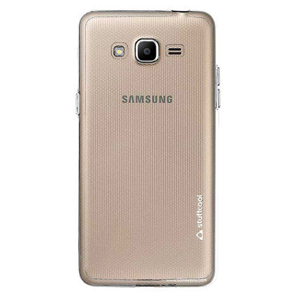 Stuffcool Pure Transparent Soft Back Case Cover for Samsung Galaxy J2 Ace - Clear
