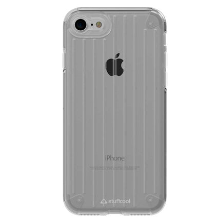 Stuffcool Res Impact Resistance Soft Frame and Hard Transparent Back Case Cover for Apple iPhone 8 / iPhone 7