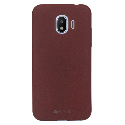 Stuffcool Sable Sandy Finish Textured TPU Soft Back Case Cover for Samsung Galaxy J2 Pro 2018