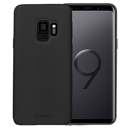Stuffcool Silo Soft & Smooth Slimmest Back Case Cover for Samsung Galaxy S9 - Black