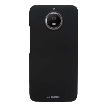 Stuffcool Smooth & Hard Back Case Cover for Motorola Moto G5S - Black