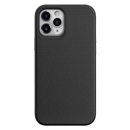 "Stuffcool Spike Tough & Solid Dual Layer Hard Back Case Cover For Apple iPhone 12 / iPhone 12 Pro 6.1"" - Black"
