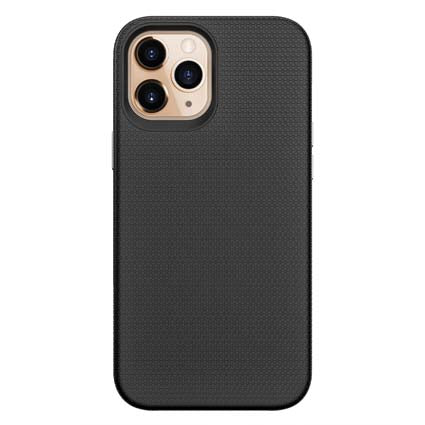 "Stuffcool Spike Tough & Solid Dual Layer Hard Back Case Cover For Apple iPhone 12 Pro Max 6.7"" - Black"