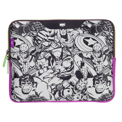 Stuffcool MARVEL Soft Laptop Sleeve for upto 15.4 Inch Macbook Pro / 14 Inch Laptop - Official MARVEL ® Licensed Product for India (COMIC 1)