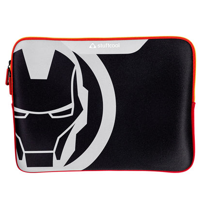 Stuffcool MARVEL Soft Laptop Sleeve for upto 15.4 Inch Macbook Pro / 14 Inch Laptop - Official MARVEL ® Licensed Product for India (IRON MAN)