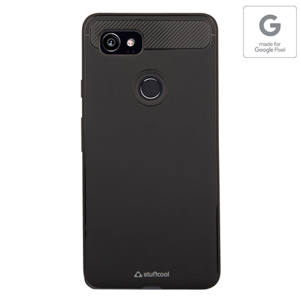 Stuffcool Soft Flexible TPU Armour Back Case Cover for Google Pixel 2 XL (Made in South Korea) Authorized Made for Google Pixel Accessory