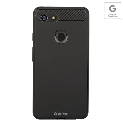 Stuffcool Soft Flexible TPU Armour Back Case Cover for Google Pixel 3 XL (Made in South Korea) Authorized Made for Google Pixel Accessory