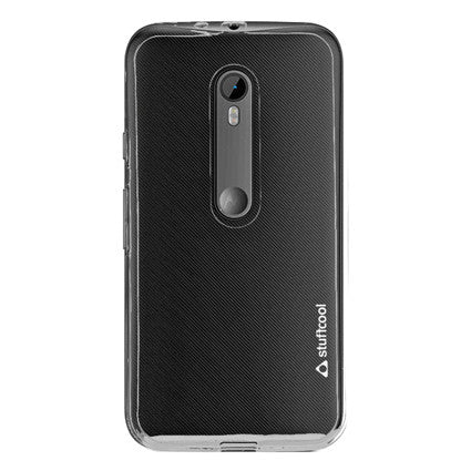 Stuffcool Pure Transparent Soft Back Case Cover for Motorola Moto G3