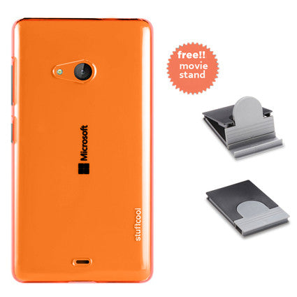 Stuffcool Clair Transparent Hard Back Case Cover for Microsoft Lumia 540