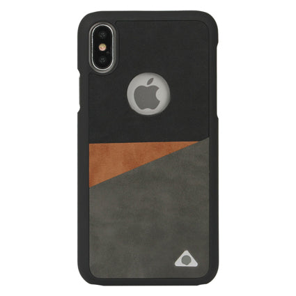 Stuffcool Trio Three Tone PU Leather Back Case Cover for Apple iPhone X