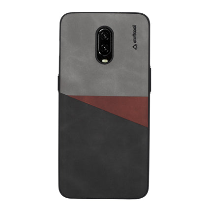 Stuffcool Trio (Vintage Finish) PU Leather Soft TPU Back Case Cover for OnePlus 6T (2018)