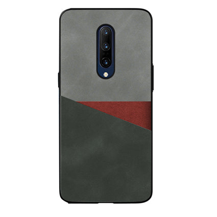 Stuffcool Case for Oneplus 7 Pro, Trio (Vintage Finish) PU Leather Soft TPU Ultra-Thin and Slim Shockproof Protection Cover for One Plus 7 Pro (2019)