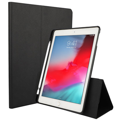 Stufffcool Tourner 360 ° Rotating Faux PU Leather Flip / Folio Case Cover with Pencil Holder for Apple iPad Mini 7.9 Inch 2019 with Auto Wake/Sleep Function - Black