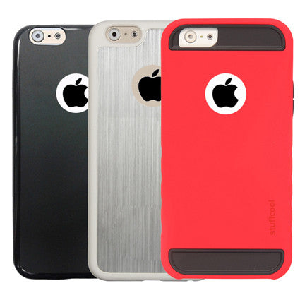 Stuffcool Trio Combi pack of 3pcs Lisse, Alier, Robust Back Case Cover for Apple iPhone 6 / 6S