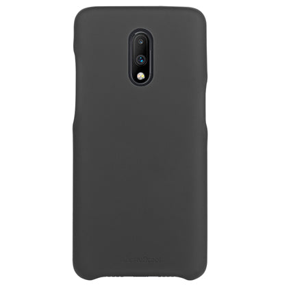 Stuffcool Back Cover Case for OnePlus 7 /One Plus 7 Uni PU Leather Slim Back Cover (Black)