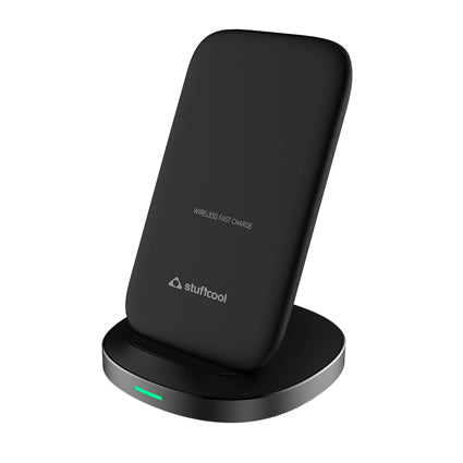 Stuffcool Qi certified wireless charger 10W fast charging wireless charge stand for Samsung Galaxy Note 10/Note 10 Plus/ Note 9 Galaxy S10/S10 Plus/S10E/S9, iPhone XS MAX/XR/XS/X/8/8 Plus and other Qi certified devices (No AC Adapter)