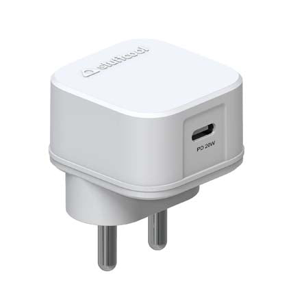 Stuffcool Novem PD Type-C PD 20W Single USB Power Delivery Wall Charger/Adapter Compatible with The New iPhone 12, iPhone 12 Pro- White