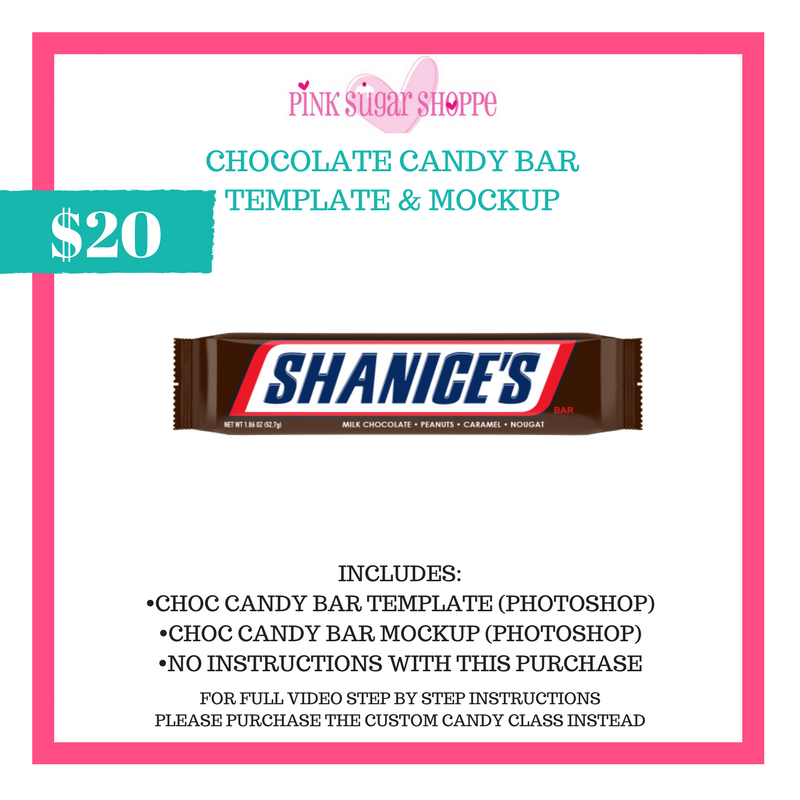 Pink sugar shoppe chocolate candy bar template mockup pink sugar pink sugar shoppe chocolate candy bar template mockup maxwellsz