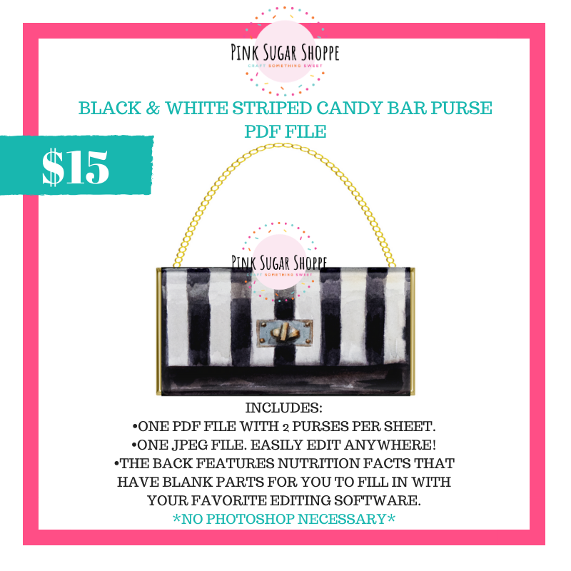 PSS - BLACK AND WHITE STRIPES - PURSE FILE