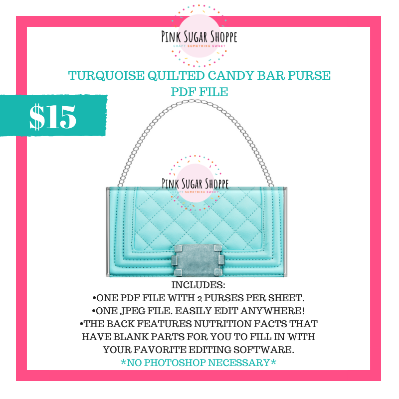 PSS - TURQUOISE QUILTED - PURSE FILE