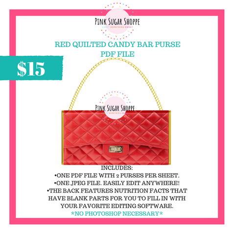 PSS - RED QUILTED - PURSE FILE