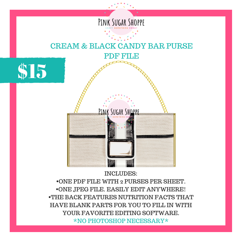 PSS - CREAM AND BLACK - PURSE FILE