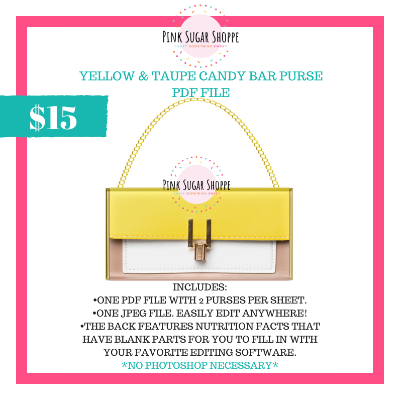 PSS - YELLOW & TAUPE - PURSE FILE