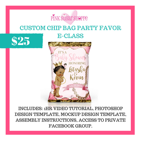 PINK SUGAR SHOPPE CUSTOM CHIP BAG E-CLASS