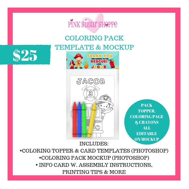 PINK SUGAR SHOPPE COLORING PACK
