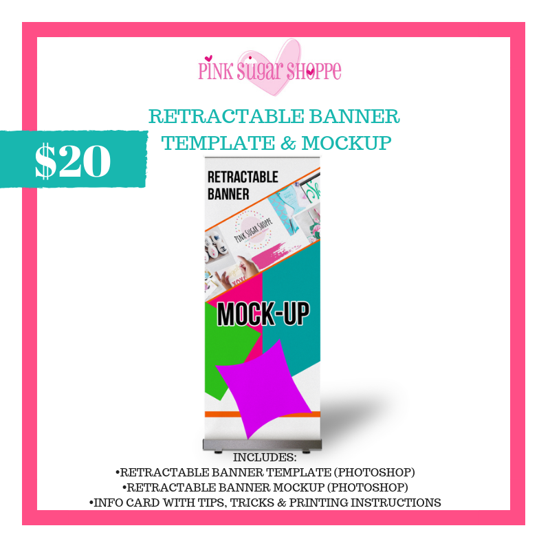 PINK SUGAR SHOPPE RETRACTABLE BANNERS