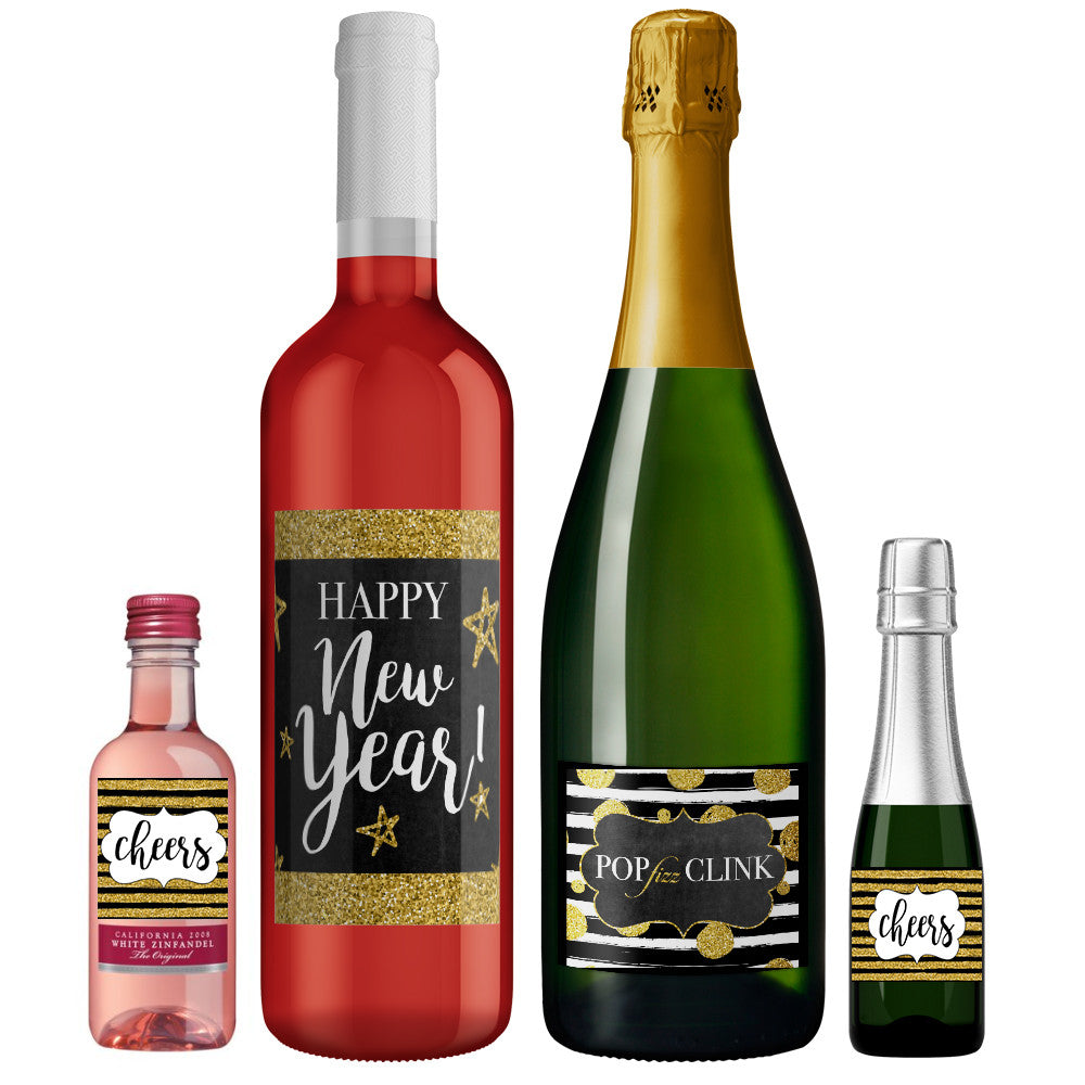 PINK SUGAR SHOPPE CHAMPAGNE AND WINE BOTTLE TEMPLATES
