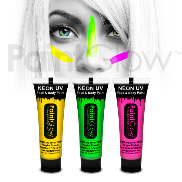 UV Face and Body Paint 13ml (3 Pack)