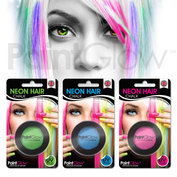 UV Hair Chalk (3 Pack)