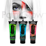 Neon UV Glitter Body Gel - 3 Pack