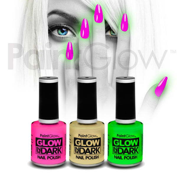 Glow in The Dark Nail Polish (3 Pack)