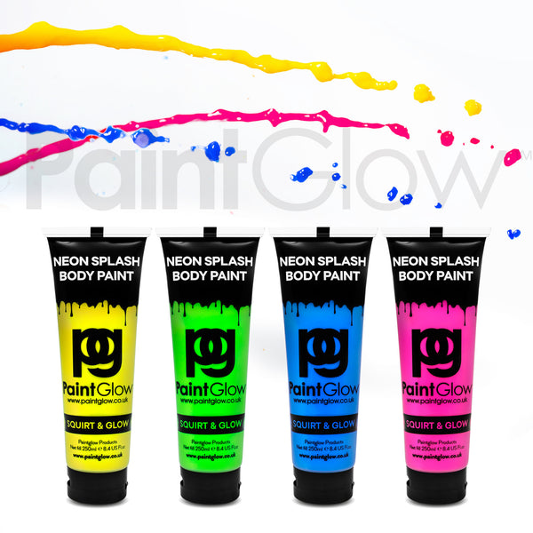 Neon UV Body Splash Paint (4 Pack)