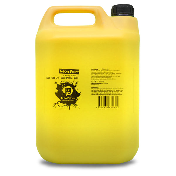 UV Body Splash Paint - Yellow