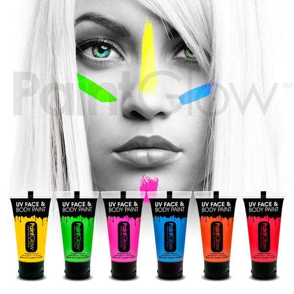 UV Face and Body Paint 50ml (6 Pack)