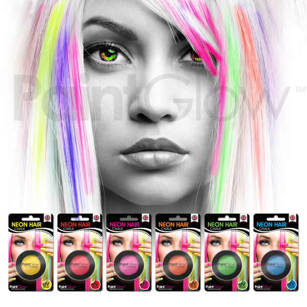 UV Hair Chalk (6 Pack)