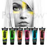 Neon UV Glitter Face Gel - 6 Pack