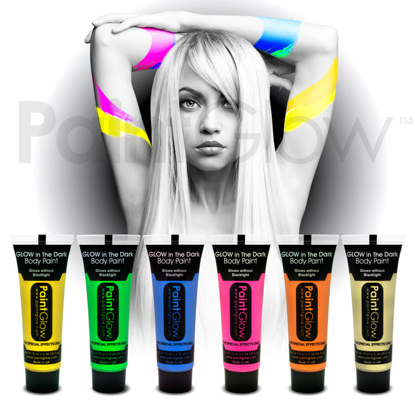Glow in the Dark Body Paint (6 Pack)