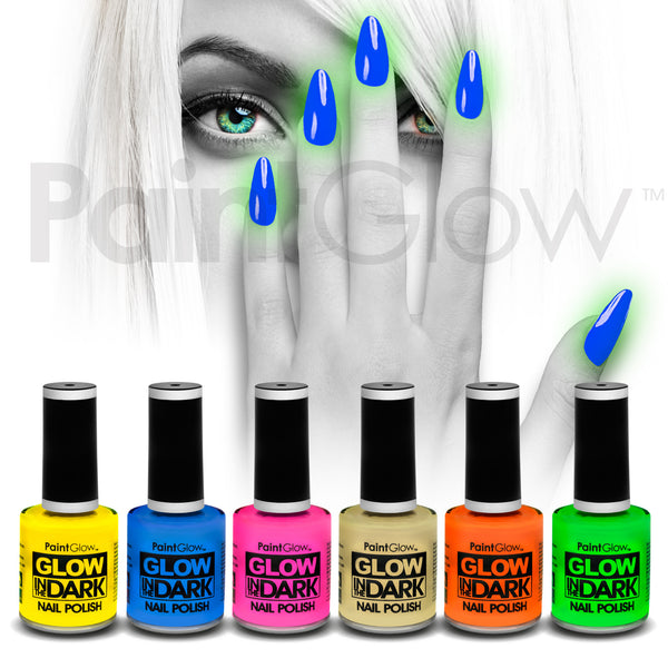 Glow in The Dark Nail Polish (6 Pack)