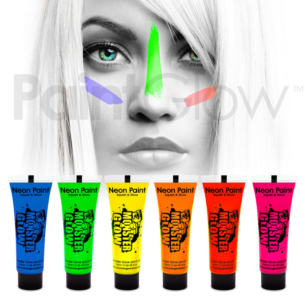 uv face paint 6 pack