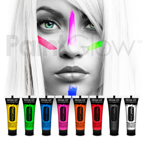 UV Face and Body Paint 13ml (8 Pack)