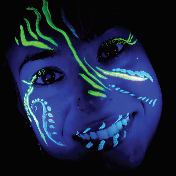 Glow in the Dark Face & Body Paint Stick Hang Pack