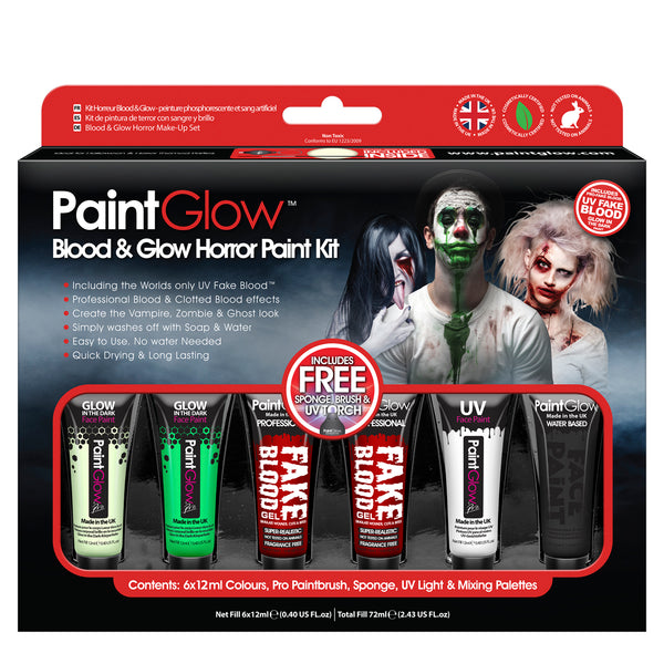 Blood & Glow Horror Paint Kit