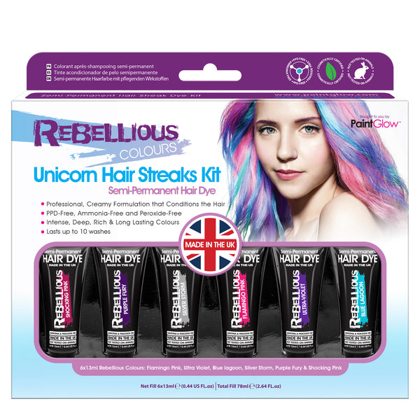 Unicorn Semi-Permanent Hair Dye Kit