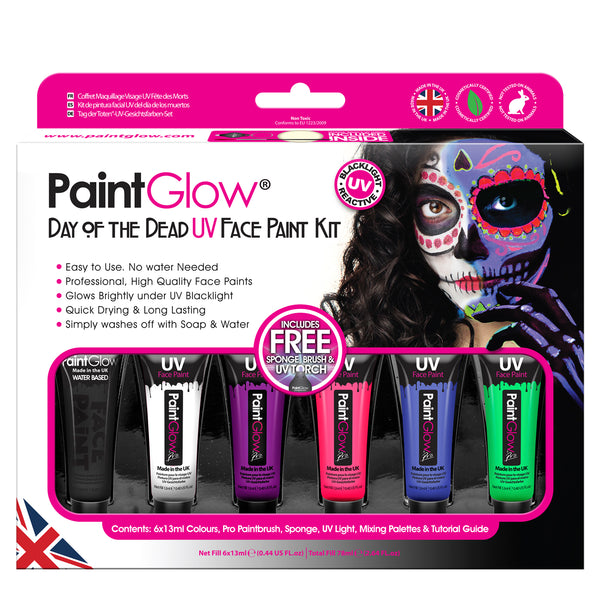 UV Reactive Day of the Dead Paint Kit