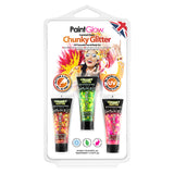 Fantasy Chunky Glitter Face and Body Glitter-Gel Hang Packs