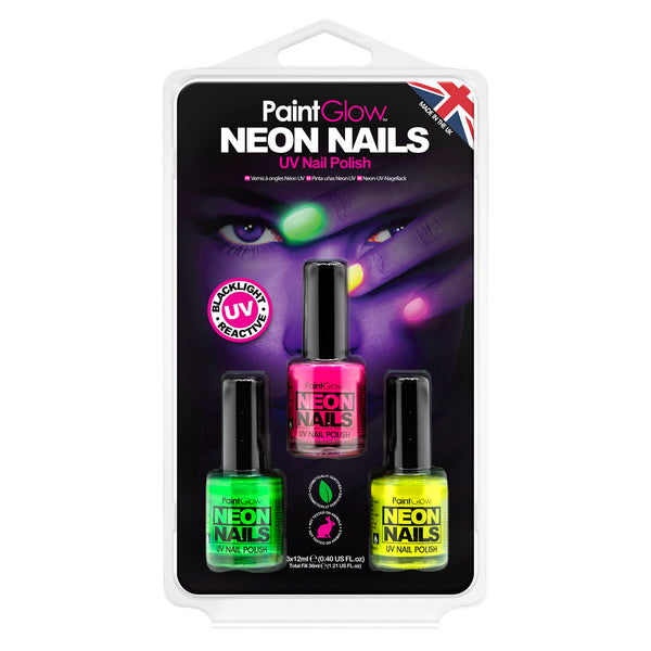 Neon UV Nail Polish Hang Pack